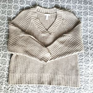 Leith Oatmeal Knit Oversized Sweater Size XS